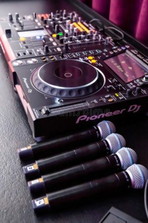 deejay-mixing-desk-microphones-johannesburg-south-africa-th-april-large-event-147024610